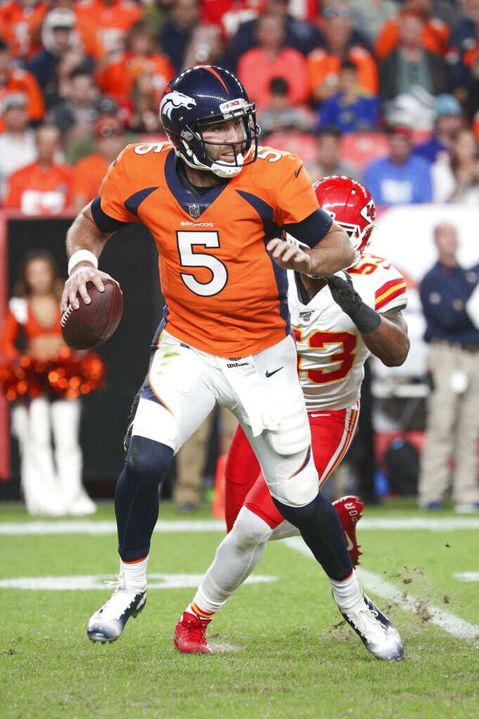 Broncos offensive coordinator dismisses shots from Flacco