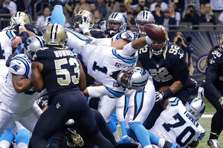APTOPIX Panthers Saints Football