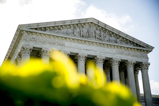 The Supreme Court building is photographed early Thursday, July 9, 2020, in Washington. (AP Photo/Andrew Harnik)