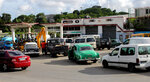 People line up with their vehicles to load up on fuel at a gas station in Havana, Cuba,Wednesday, Sept. 11, 2019.The island nations is facing a diesel fuel shortage, but the government said there will be no electricity blackouts. The government blames the recent economic sanctions placed by the U.S. Trump administration for this latest energy crisis. (AP Photo/Ismael Francisco)