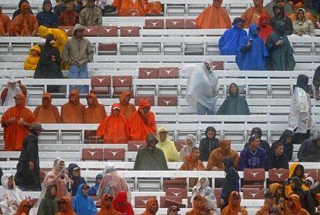 Texas Fans in Rain