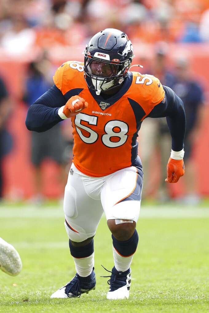 Von Miller still searching for season's first sack
