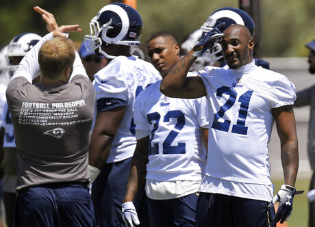 Sean McVay, Marcus Peters, Aqib Talib