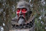 A statue of Spanish writer Miguel de Cervantes, author of