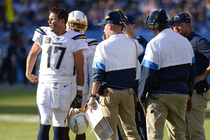 Chargers hope promoting Steichen can help fix offensive woes