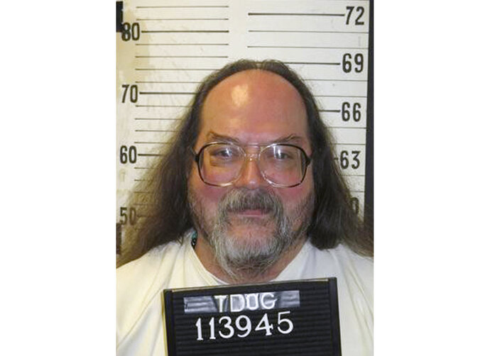 This undated photo provided by the Tennessee Department of Correction shows Billy Ray Irick, currently on death row at Riverbend Maximum Security Institution in Nashville, Tenn. Irick was convicted for raping and killing a 7-year-old girl in 1985, and is scheduled to be executed Thursday, Aug. 9, 2018. (Tennessee Department of Correction via AP)