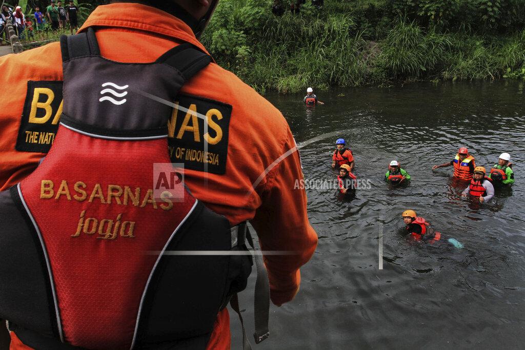Flash flood kills nine students on Indonesian school trip in Sleman, Yogyakarta - 22 February 2020.