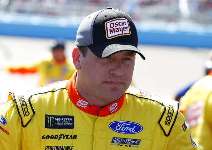 Driver Ryan Newman prior to the start of the NASCAR Cup Series auto race at ISM Raceway, Sunday, March 10, 2019, in Avondale, Ariz. (AP Photo/Ralph Freso)