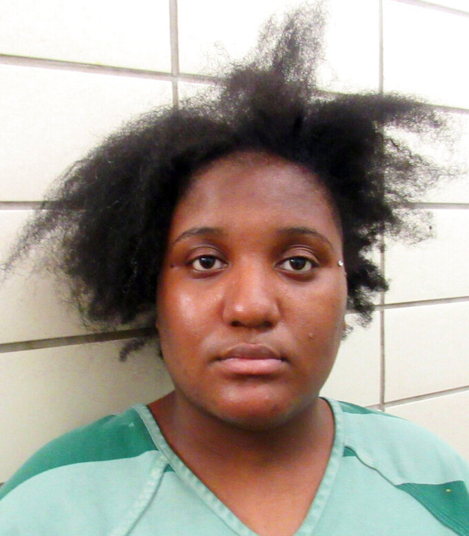 This June 17, 2021, booking photo provided by the Dallas County, Texas, Jail shows Troyshaye Hall. Hall faces a capital murder charge in her daughter's slaying, as well as a charge of aggravated assault in the stabbing of a 16-year-old boy. (Dallas County, Texas, Jail via AP)