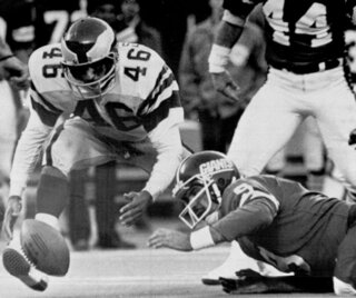 Giants 40-Year-Old Fumble Football