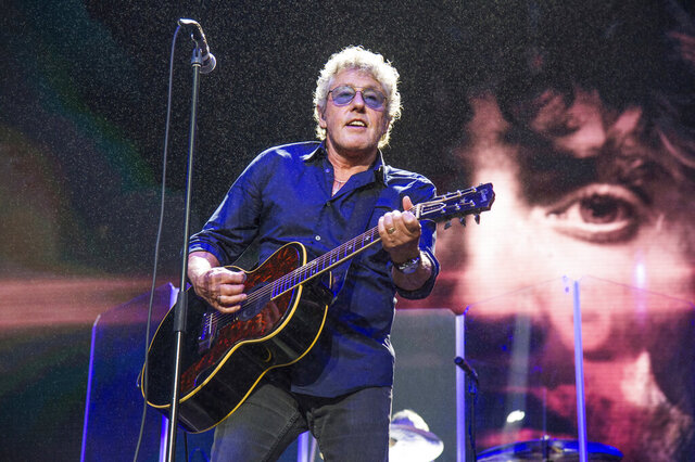 FILE - In this Aug. 13, 2017 file photo, Roger Daltrey of The Who performs at the 2017 Outside Lands Music Festival at Golden Gate Park in San Francisco. Daltrey is concerned that the coronavirus pandemic will have a devastating effect on teens with cancer. The Who frontman, along with bandmate Pete Townsend, started the Teen Cancer America foundation in 2012 to deal with the specific needs of teenage cancer patients. But funding depends on live performances, and with venues closed and touring postponed, the organization could be in trouble.(Photo by Amy Harris/Invision/AP, File)