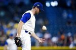 Arizona Diamondbacks starting pitcher Tyler Gilbert flips the rosin bag during the second inning of a baseball game against the Seattle Mariners, Sunday, Sept. 5, 2021, in Phoenix. (AP Photo/Ross D. Franklin)
