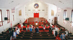 FILE - In this Tuesday, April 30, 1996 file photo, a tour group from Saginaw, Mich., visits Ebenezer Baptist Church in Atlanta. Martin Luther King, Jr. preached and planned civil-rights strategy at the the historic church. In 1999, church services were moved to a newer, 1,700-seat sanctuary located directly across the street from the King-era Ebenezer. (Frank Niemeir/Atlanta Journal-Constitution via AP)