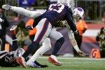 New England Patriots linebacker Kyle Van Noy tackles Buffalo Bills quarterback Josh Allen, rear, in the second half of an NFL football game, Saturday, Dec. 21, 2019, in Foxborough, Mass. (AP Photo/Steven Senne)