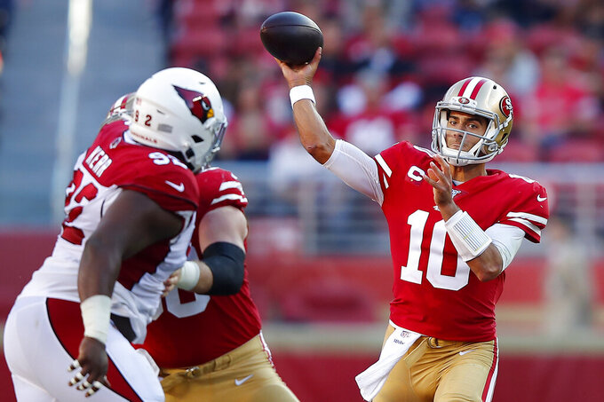 49ers prepare for 3-game gauntlet against 1st-place teams