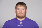 FILE  - This is a 2019 photo showing Marshal Yanda of the Baltimore Ravens NFL football team. Back when Marshal Yanda didn't have a touch of grey in his red beard and had not yet earned the first of seven Pro Bowl bids, the big kid from Iowa was just a raw rookie with the Baltimore Ravens looking for some guidance. (AP Photo/File)
