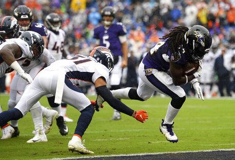 APTOPIX Broncos Ravens Football