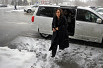 Democratic presidential candidate Sen. Kamala Harris, D-Calif., arrives at the Common Man Restaurant for lunch in Concord, N.H., Monday, Feb. 18, 2019. (AP Photo/Elise Amendola)