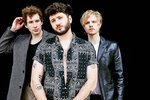 This image released by dblblk/Elektra shows members of The Band Camino, from left, Jeffery Jordan, Spencer Stewart and Garrison Burgess.  The band released a self-titled album earlier this year. (dblblk/Elektra via AP)
