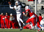 Utah State quarterback Jordan Love (10) throws against New Mexico during the first half of an NCAA college football game on Saturday, Nov. 30, 2019 in Albuquerque, N.M. (AP Photo/Andres Leighton)
