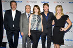 FILE - In this Dec. 20, 2012 file photo, Alec Baldwin, from left, Lorne Michaels, Tina Fey, Jack McBrayer and Jane Krakowski attend the
