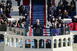President Joe Biden speaks during the 59th Presidential Inauguration at the U.S. Capitol in Washington, Wednesday, Jan. 20, 2021.(AP Photo/Patrick Semansky, Pool)