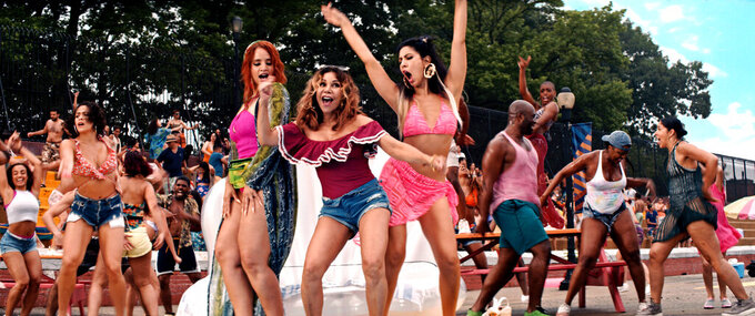 """This image released by Warner Bros. Pictures shows a scene from """"In the Heights."""" (Warner Bros. via AP)"""