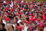 Supporters listens as President Donald Trump speaks at a campaign rally Tuesday, Sept. 8, 2020, in Winston-Salem, N.C. (AP Photo/Chris Carlson)