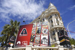 A view of the Carlton Hotel in Cannes during the 72nd international film festival, Cannes, southern France, Monday, May 13, 2019. The Cannes film festival runs from May 14th until May 25th 2019. (Photo by Arthur Mola/Invision/AP)