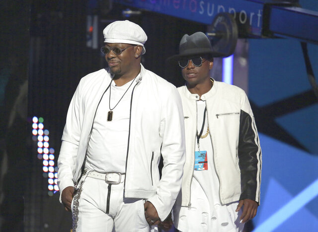 FILE - Bobby Brown, left, and Bobby Brown Jr. appear at the BET Awards in Los Angeles on June 26, 2016. Brown was found dead at a Los Angeles home. He was 28. Los Angeles Police told The Los Angles Times officers were responding to a medical emergency at an Encino home when they found Bobby Brown Jr.'s body around 1:50 p.m. on Wednesday, Nov. 18, 2020. (Photo by Matt Sayles/Invision/AP, File)