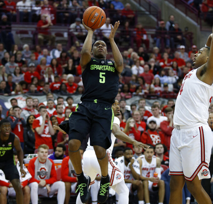 No. 8 Michigan State holds off No. 14 Ohio State 86-77