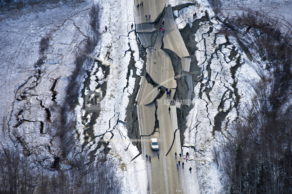APTOPIX Earthquake Alaska