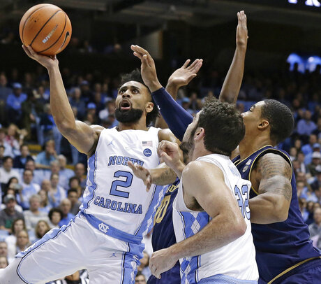 Luke Maye, Joel Berry II, Elijah Burns