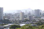 Diamond Head, an extinct volcanic crater, and high-rises are seen in Honolulu on Saturday, Jan. 13, 2018. A push alert that warned of an incoming ballistic missile to Hawaii and sent residents into a full-blown panic was a mistake, state emergency officials said. (AP Photo/Audrey McAvoy)