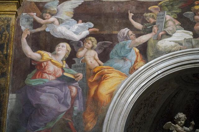A detail of the 1514 fresco