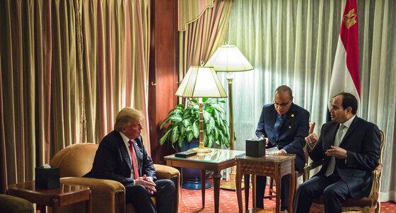 Donald Trump, Abdel-Fattah el-Sissi