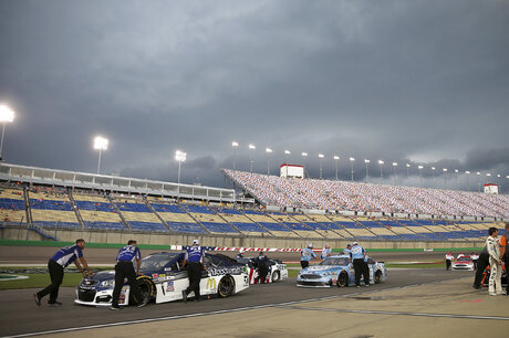 NASCAR Kentucky Speedway weather delay photos, pole winner