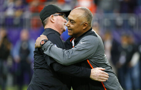 Mike Zimmer, Marvin Lewis