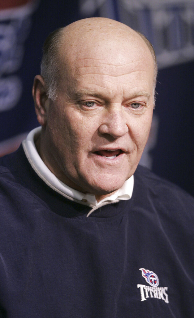 FILE - This Feb. 17, 2005 file photo shows Tennessee Titans general manager Floyd Reese in Nashville, Tenn.   Reese, the general manager of the Tennessee Titans' lone Super Bowl team, has died, on Saturday, Aug. 21, 2021.    (AP Photo/Mark Humphrey, File)