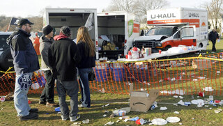 Yale Tailgate Accident