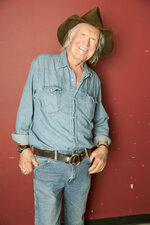 FILE - Artist Billy Joe Shaver poses backstage following his concert