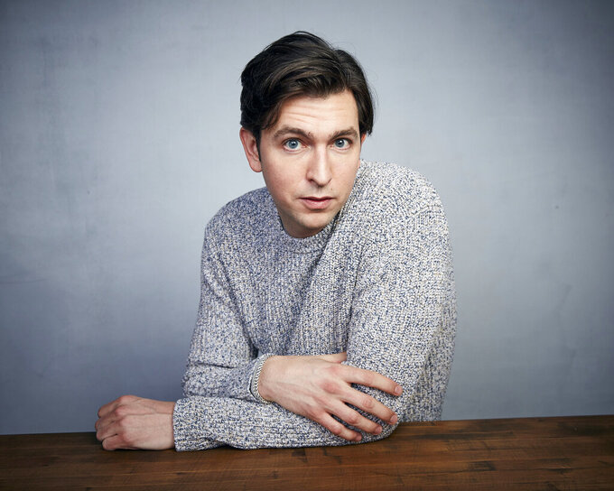 "FILE - Nicholas Braun poses for a portrait to promote the film ""Zola"" during the Sundance Film Festival on Jan. 25, 2020, in Park City, Utah. Braun, who plays fan favorite Cousin Greg on HBO's ""Succession,"" has created a song for the age of COVID. Called ""Antibodies,"" the song that Braun began writing as almost a joke pretty quickly caught the ear of Atlantic Records. The song and a now-viral music video was released under the label last week. (Photo by Taylor Jewell/Invision/AP, File)"