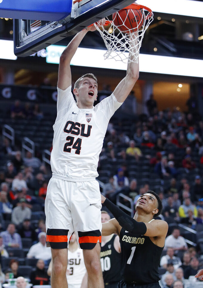 Colorado beats Oregon State 73-58 in Pac-12 quarterfinals