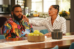 This image released by ABC shows Anthony Anderson, left, and Tracee Ellis Ross in a scene from