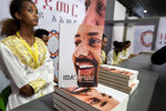 FILE - In this Saturday, Oct. 19, 2019 file photo, Ethiopia's Prime Minister Abiy Ahmed's book