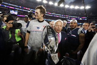 Robert Kraft, Tom Brady, Patrick Chung