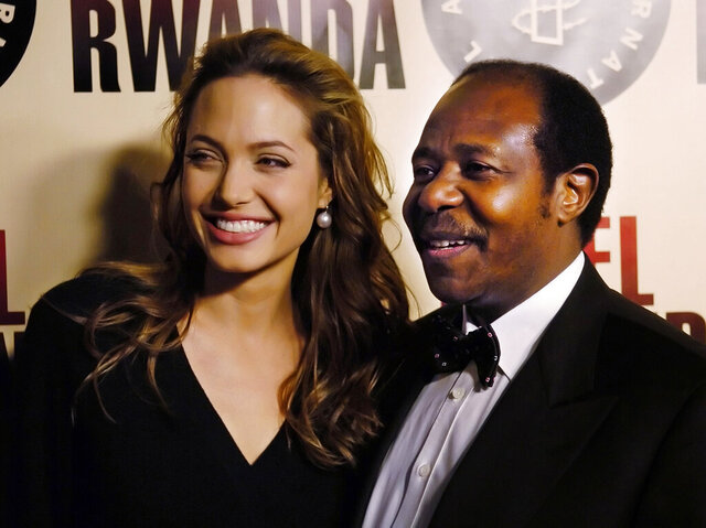FILE - In this Thursday, Dec. 2, 2004 file photo, Paul Rusesabagina, the inspiration for the film