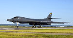 "A B-1B Lancer assigned to the 37th Bomb Squadron taxis on the flightline at Ellsworth Air Force Base, USA, Thursday, July 16, 2020. he U.S. Air Force flew three B-1 heavy bombers over the East Siberian Sea, north of Russia's far east, as part of recent maneuvers that the military said Friday are meant to demonstration of American capabilities and ability to support allies, but which a Russian commander blasted as ""hostile and provocative."" The flight of the three Texas-based U.S. Air Force Reserve B-1 Lancer bombers on Thursday followed a similar mission a week ago in which three temporarily Britain-based B-52 bombers were flown over Ukrainian airspace, near Russia's western flank. (U.S. Air Force photo by Airman 1st Class Quentin K. Marx via AP)"