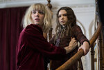 This image released by Universal Pictures shows Mackenzie Davis, left, and Brooklynn Prince in a scene from