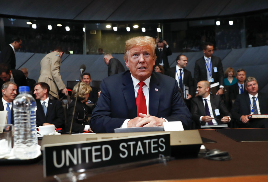 Trump suggests North Atlantic Treaty Organisation  countries to double defence spending